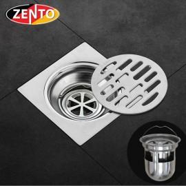 Phễu thoát sàn chống mùi inox Zento TS125 (118x118mm)
